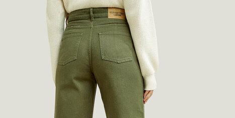 Damen Jeans Aus Bio-Baumwolle