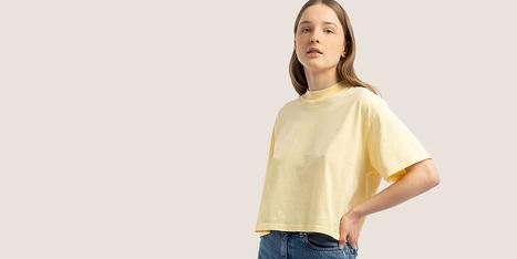 Damen Shirts Mit Print oder Basic