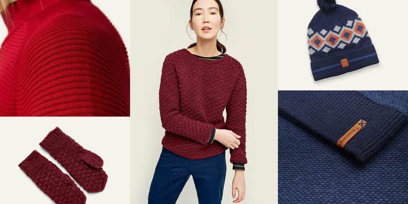 Strick-Highlight Pullover, Schals & Co.