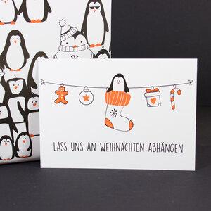 """Postkarte """"Lass uns abhängen"""" - Bow & Hummingbird"""