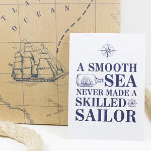 "Postkarte ""A smooth sea"" - Bow & Hummingbird"