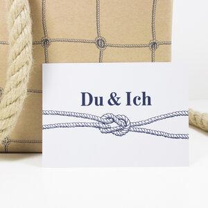 Postkarte Du & Ich - Bow & Hummingbird