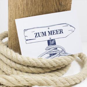 Postkarte Zum Meer - Bow & Hummingbird