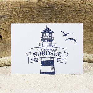 Postkarte Nordsee - Bow & Hummingbird
