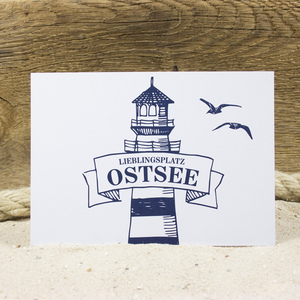 Postkarte Ostsee - Bow & Hummingbird