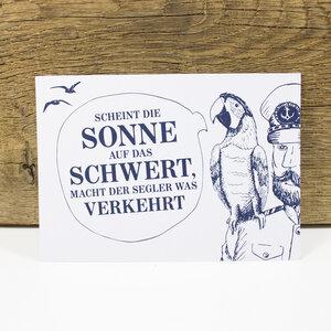 "Postkarte ""Käpt´ns Weisheit I"" - Bow & Hummingbird"