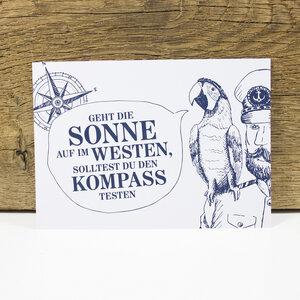 "Postkarte ""Käpt´ns Weisheit II"" - Bow & Hummingbird"