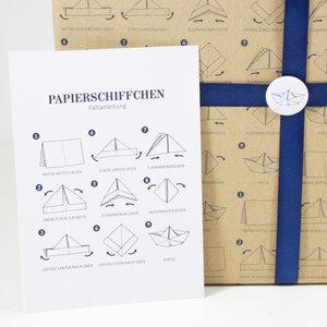 Postkarte Papierschiffchen - Bow & Hummingbird