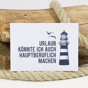 "Postkarte ""Urlaub hauptberuflich"" - Bow & Hummingbird"