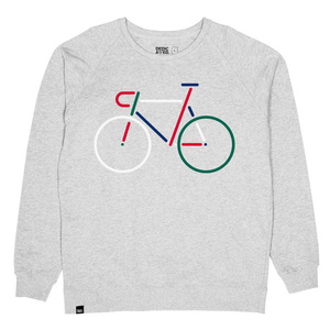 Sweatshirt Malmoe Color Bike Embroidery grey - DEDICATED