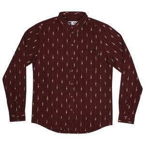 Shirt Varberg Handloom Diamonds Burgundy - DEDICATED