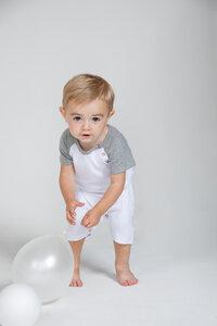 Baby Baseball Style Body Strampler  - Babybugz