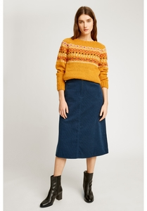 Cordrock - Renee Corduroy Skirt - blue - People Tree