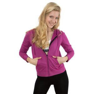 Hoodie violett mit Taschen - Blueberry Rockster
