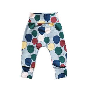 Kinder Haremshose Ballons Bio Baumwolle Baby Sweathose rot blau grau - betus