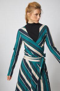 WICKELBLUSE aus Modal® und Baumwolle Print Stripes - Lanius