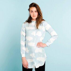 Frederica Tencel Shirt Clouds Blue  - DEDICATED
