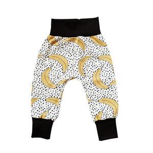 Kinder Haremshose Banana Bio Baumwolle Baby Jerseyhose gelb schwarz - betus