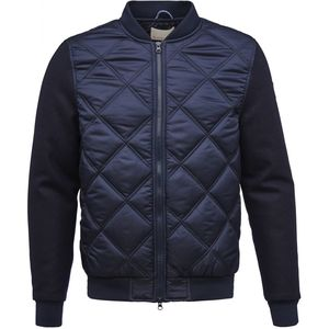 Bomber Jacket with Wool Sleeves - KnowledgeCotton Apparel