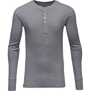 Rib Knit Henley - KnowledgeCotton Apparel