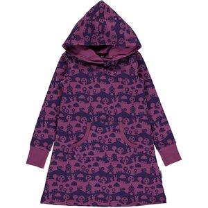 Maxomorra Kapuzenkleid purple GOTS - maxomorra