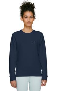 Damen Sweatshirt in verschiedenen Farben mit Anker Stick Bio & Fair - Hanseat