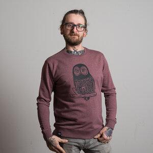 "Unisex Sweatshirt ""Eule 2"" - DISKO"