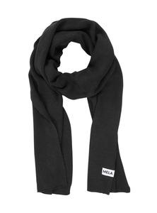 Weicher unisex Schal schwarz - Fairtrade & GOTS zertifiziert  - MELAWEAR