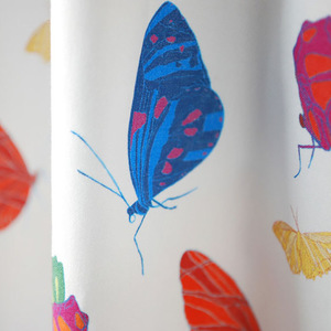 "Stoffrest Bio-Stoff ""Butterfly Color"" 1,5 x 1,5 m - Biostoffe Berlin by Julie Cocon"