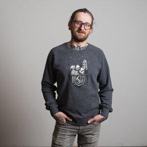 """Men Sweatshirt """"Sternendisko"""" - DISKO"""