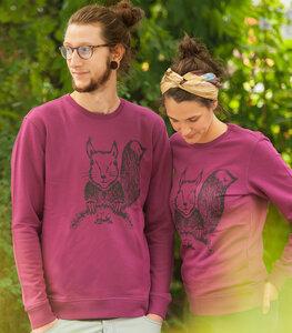 päfjes - Ella Eichhorn / Squirrel - Unisex Sweater - Lila - päfjes