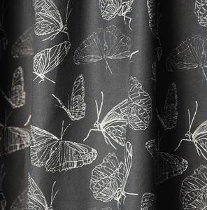 "Stoffrest Bio-Stoff ""Butterfly Black"" 260 cm - Biostoffe Berlin by Julie Cocon"