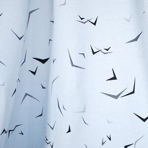 """Bedruckter Bio-Stoff, Jersey aus Bio-Baumwolle """"bird swarm"""" - Biostoffe Berlin by Julie Cocon"""