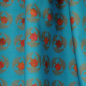 "Baumwoll-Stoff ""Japanese, Blue Swan"" Reststück ca. 150 cm - Biostoffe Berlin by Julie Cocon"