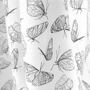 "Stoffrest Bio-Stoff ""Butterfly White"" 2,15 Meter - Biostoffe Berlin by Julie Cocon"