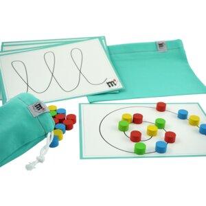 Muster und Formen legen - Lernspiel zur Förderung der Feinmotorik - The Montbox