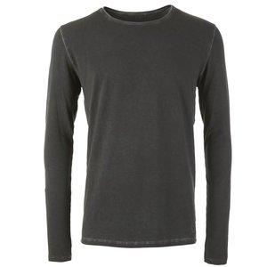 Langarm Shirt SIMON, dark gull - Kamah