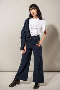 Marlene-Hose weit in dunkelblau oder schwarz - SinWeaver alternative fashion