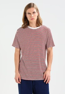 T-Shirt Darius Burgundy Fine Stripe - Kings Of Indigo