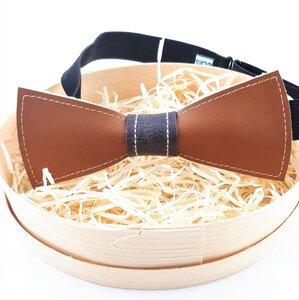 Herrenfliege aus braunem Leder, ein außergewöhnlicher Blickfang Nr.VI - Süßstoff