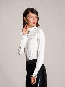 Langarmshirt Rollkragenshirt weiß eng tailliert lang - SinWeaver alternative fashion