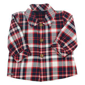 "Lässig, sportliches Babyhemd (rot-navy) im ""Holzfäller-Style"" (54380) - carl&lina"