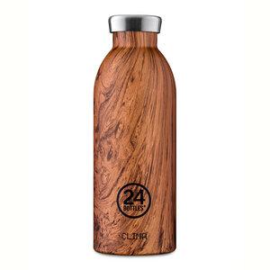 24bottles 0,5l Thermosflasche - verschiedene Wood Designs - 24bottles