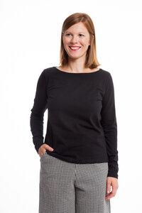 Langarm Shirt Thea schwarz - emmy pantun