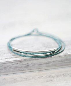 "pikfine Leder Tube Armband ""Tingval"" rhodiniert // 11 Farben  - pikfine"