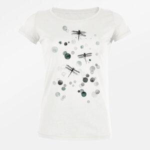 T-Shirt Loves Animal Dragonflies Bubbles - GreenBomb