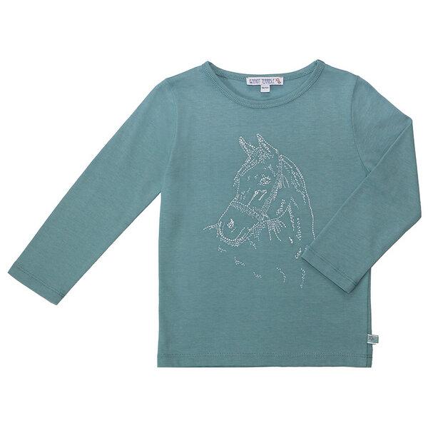 Kinder Langarm-shirt Pferdekopf