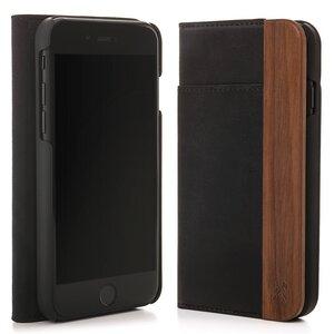 iPhone Hülle EcoWallet Klapphülle - aus Holz und veganem Leder - Woodcessories
