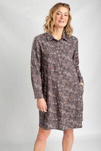 Emilia Floral Print Shirt Dress - bibico