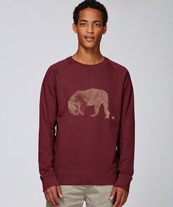 Sweatshirt mit Motiv / golden Tiger - Kultgut